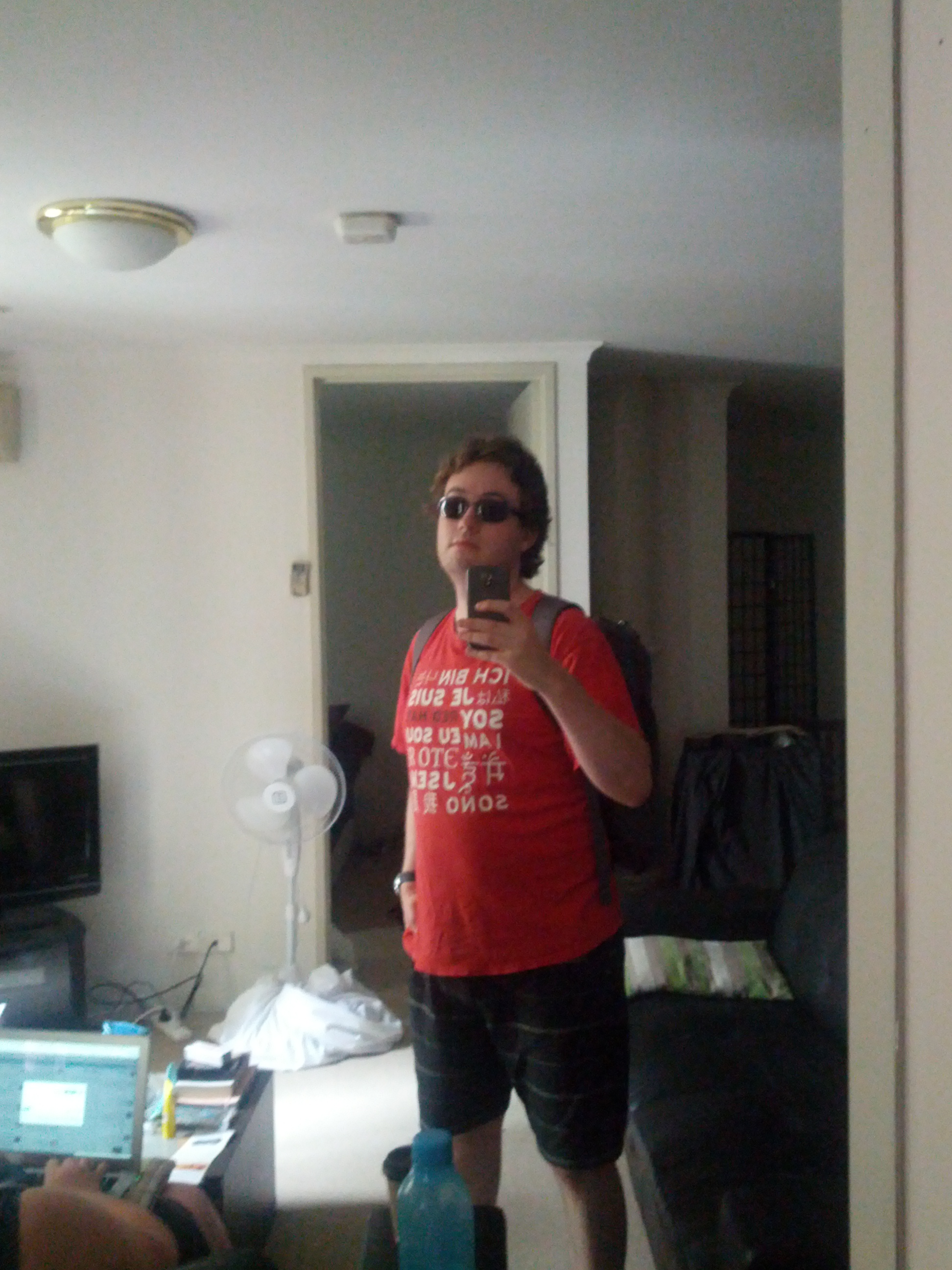 Full of optimism, I set forth from my apartment with my trust RedHat t-shirt to bring geek culture to the bush.