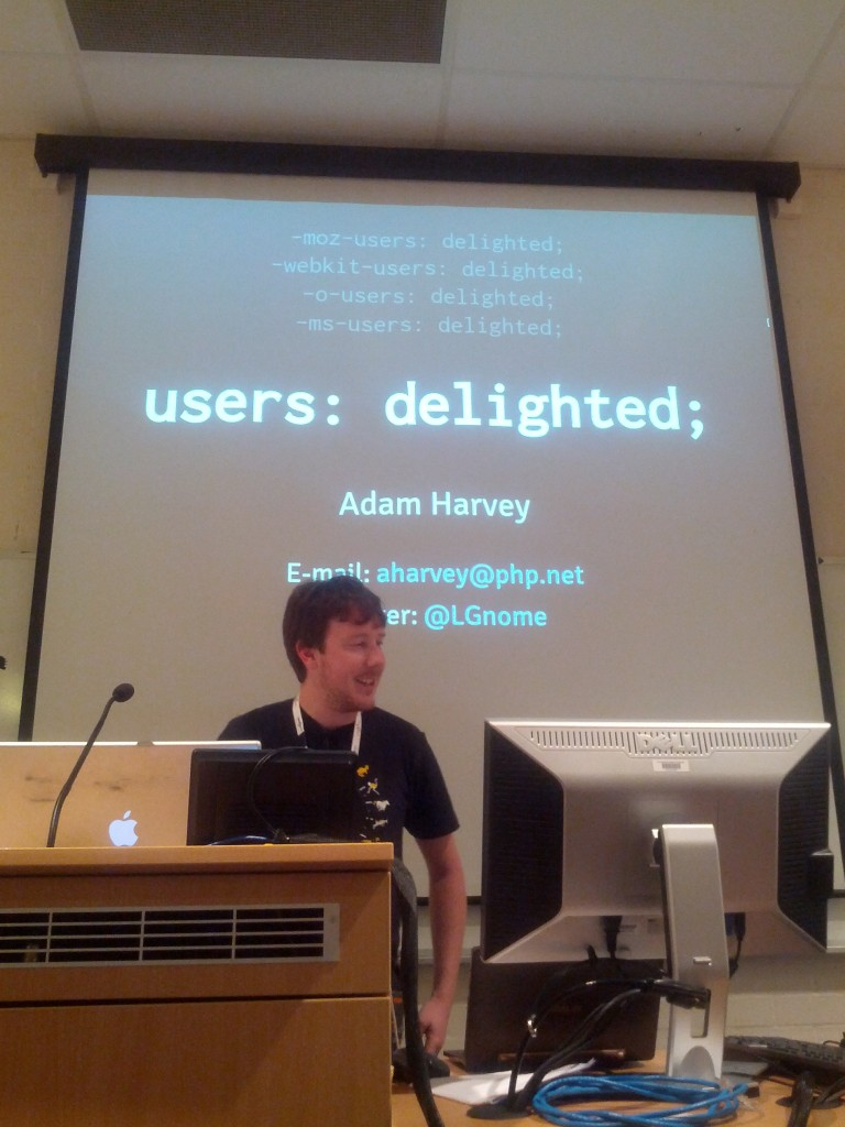 users: delighted, presenter: smug :-P