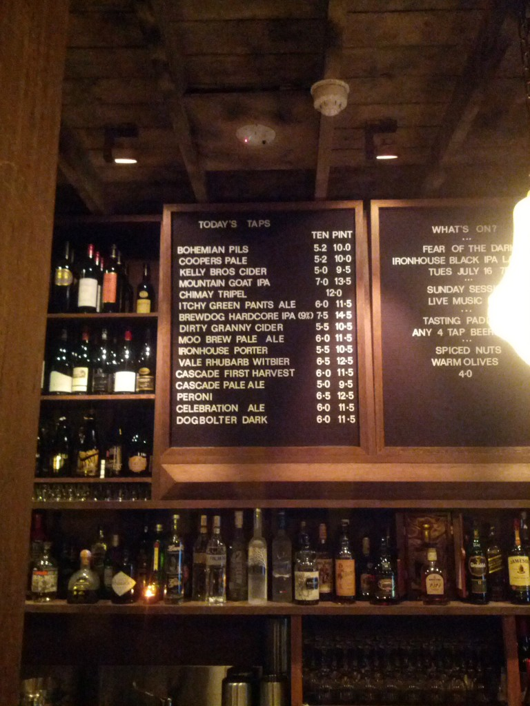 This Hobart pub has a better beer selection than most of the places near my home and work in Sydney's CBD.
