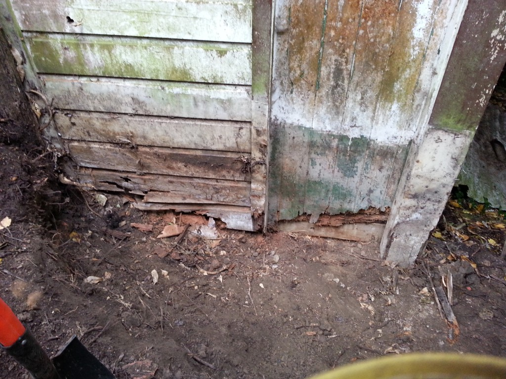 Dug out shed